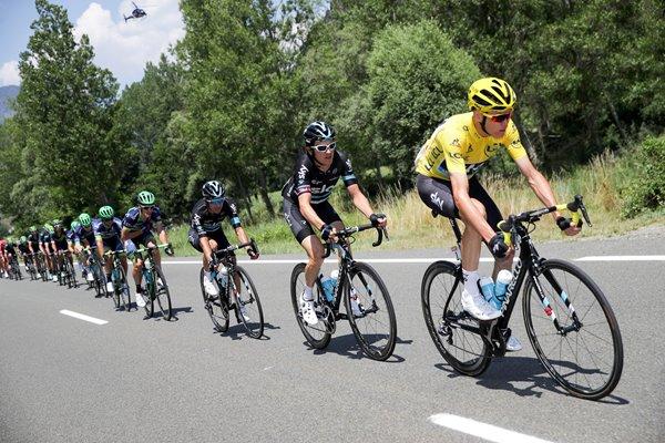 Home of Legends Framed Chris Froome Team Sky Paris 2017 Tour de France Cycling Photo Memorabilia
