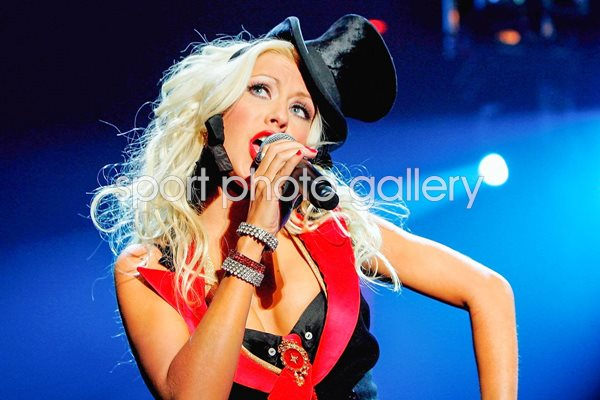 Christina Aguilera on stage