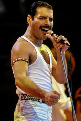 A Muscular Performance by Freddie Mercury