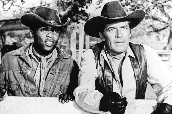 Singer Lou Rawls & Peter Breck In 'The Big Valley'