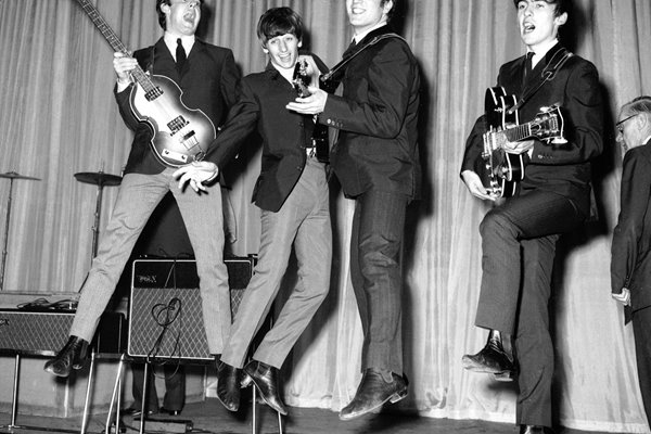 Leaping Beatles 1963