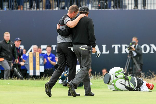Henrik Stenson & Phil Mickelson Open Troon 2016