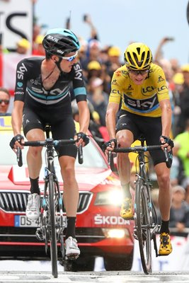 Chris Froome & Wout Poels Stage 19 Tour 2016