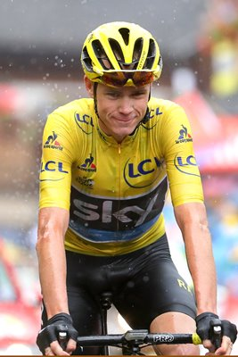 Chris Froome finishes Stage 20 Morzine Tour 2016
