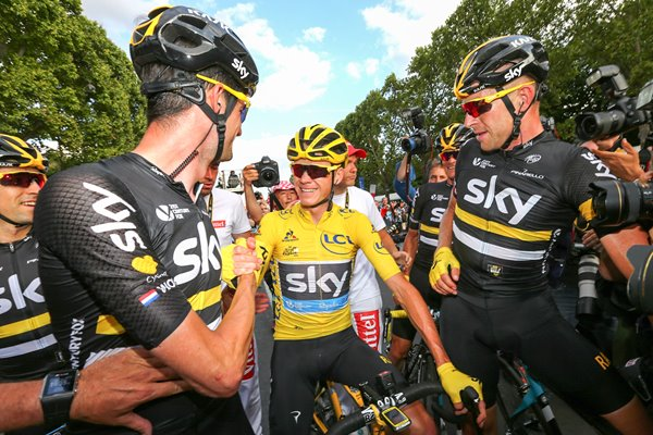 Chris Froome Ian Stannard Wout Poels Sky 2016