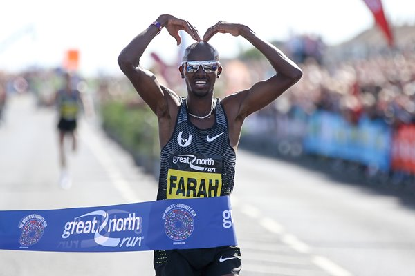 Mo Farah wins Great North Run 2016