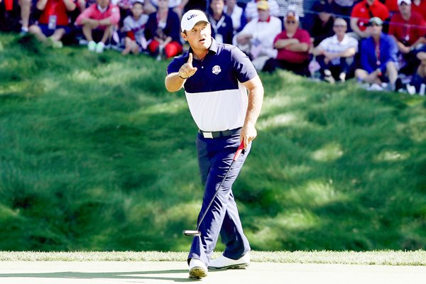 Patrick Reed USA v Rory McIlroy 2016 Ryder Cup
