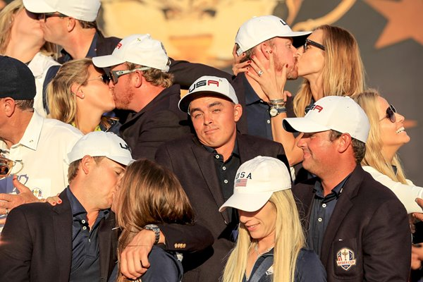 Rickie Fowler Alone in USA Ryder Cup Celebrations 2016