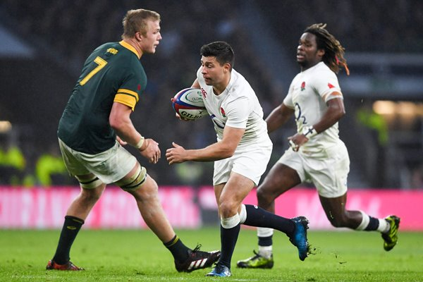 Ben Youngs England dummies Pieter-Steph du Toit 2016