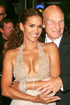 Halle Berry and Patrick Stewart