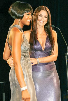 Naomi Campbell and Cindy Crawford