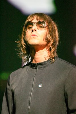 Liam Gallagher of Oasis performs
