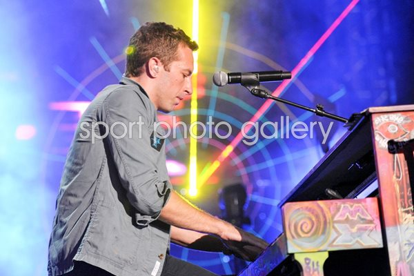 Chris Martin of Coldplay California 2011