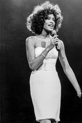 Whitney Houston on stage