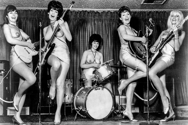 The worlds first and only all-girl topless band!