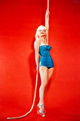 Marilyn Monroe blue swimsuit