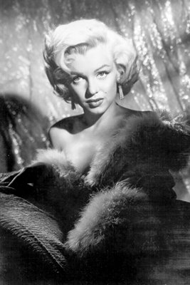 Marilyn Monroe in fur