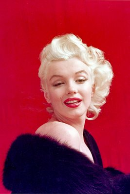 Marilyn Monroe black fur