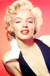 Marilyn Monroe white collar Prints