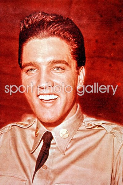 Elvis Presley in army uniform