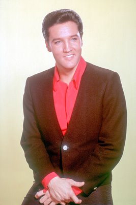 Elvis Presley in black suit