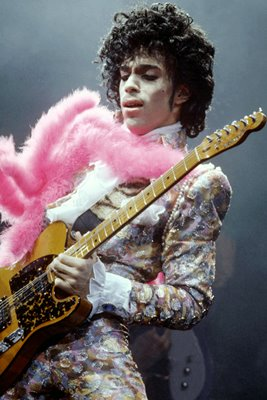 Prince colourful on stage