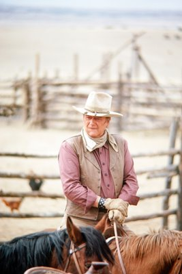 "John Wayne in"" The Cowboys"""