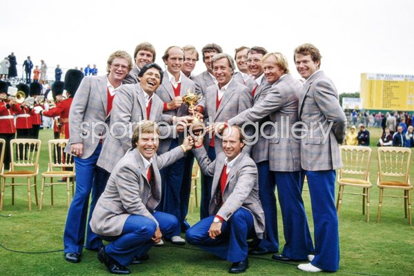 USA Ryder Cup Team Walton Heath 1981