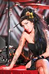 Amy Winehouse stage portrait Frames