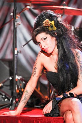 Amy Winehouse stage portrait