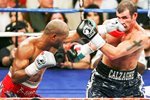Bernard Hopkins lands left v Joe Calzaghe Prints