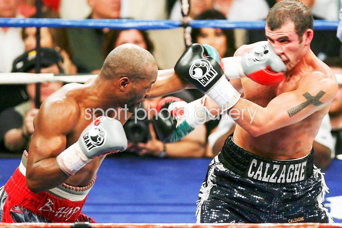 Bernard Hopkins lands left v Joe Calzaghe