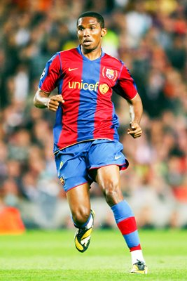 Samuel Eto'o in action for Barcelona 2008