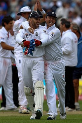 Graeme Swann Matt Prior Edgbaston 2011