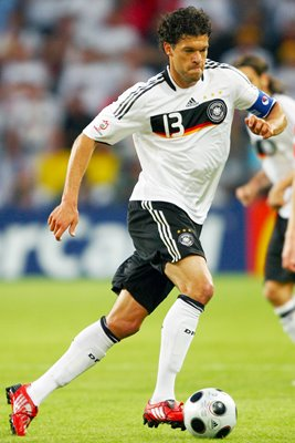 Michael Ballack Germany v Poland Euro 2008
