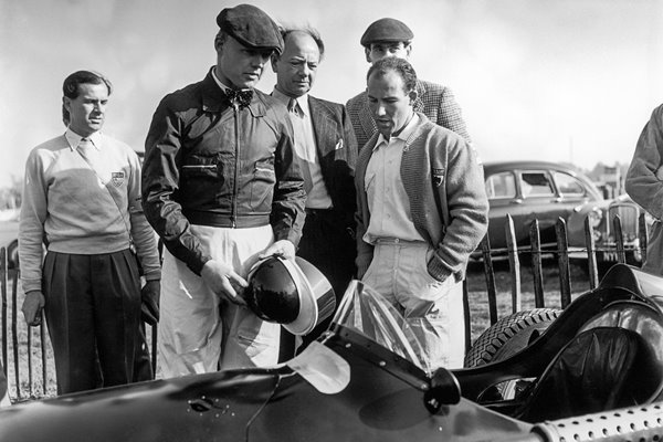 Mike Hawthorn  Raymond Mays and Stirling Moss 1956