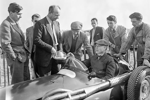 Mike Hawthorn & Raymond Mays at Goodwood 1956