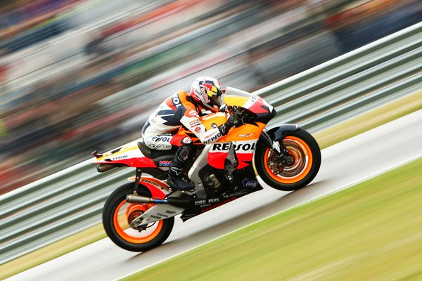 Daniel Pedrosa Honda Repsol warming up