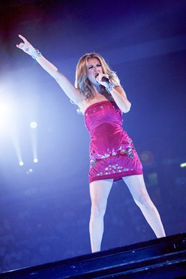 Celine Dion performs in Milan