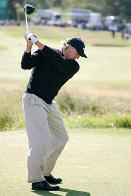 Greg Norman in action at Birkdale 2008