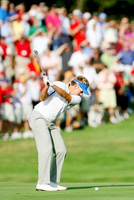 Ian Poulter 2008 Ryder Cup action