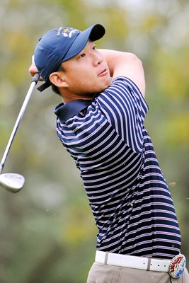 Anthony Kim Ryder Cup action portrait