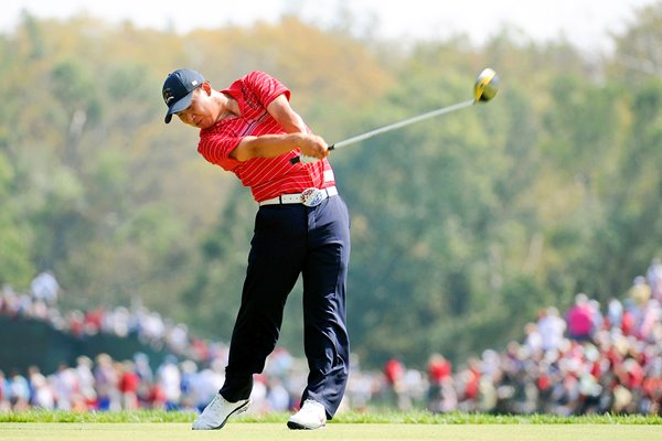 Anthony Kim in full swing v Garica Ryder Cup 2008