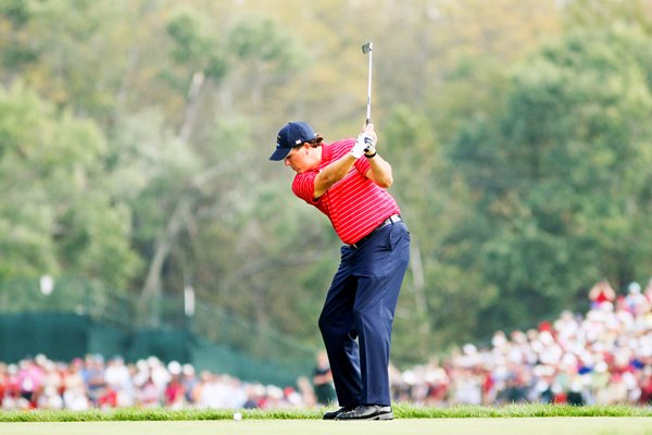 Phil Mickelson Ryder Cup 2008 action