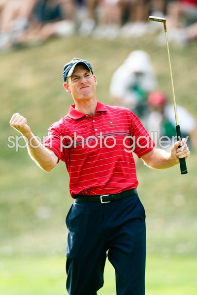 2008 Ryder Cup - Jim Furyk celebrates winning point