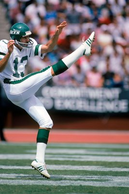 Punter Dave Jennings New York Jets