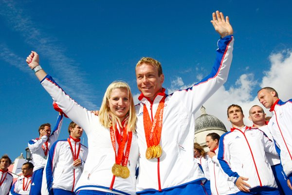 Olympic Gold heroes Hoy and Adlington
