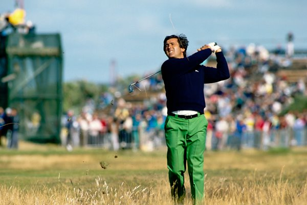 Seve blasts from the Lytham rough Open 1988