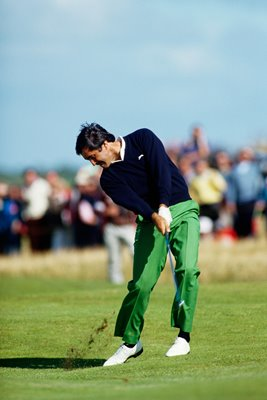 Seve Ballesteros at impact Lytham Open 1988