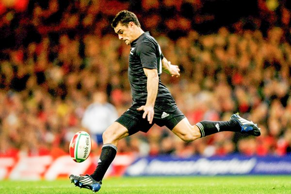 Dan Carter in action v Wales 2008